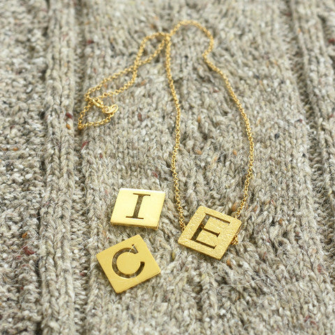 Scrabble Necklace (Single Letter Necklace)