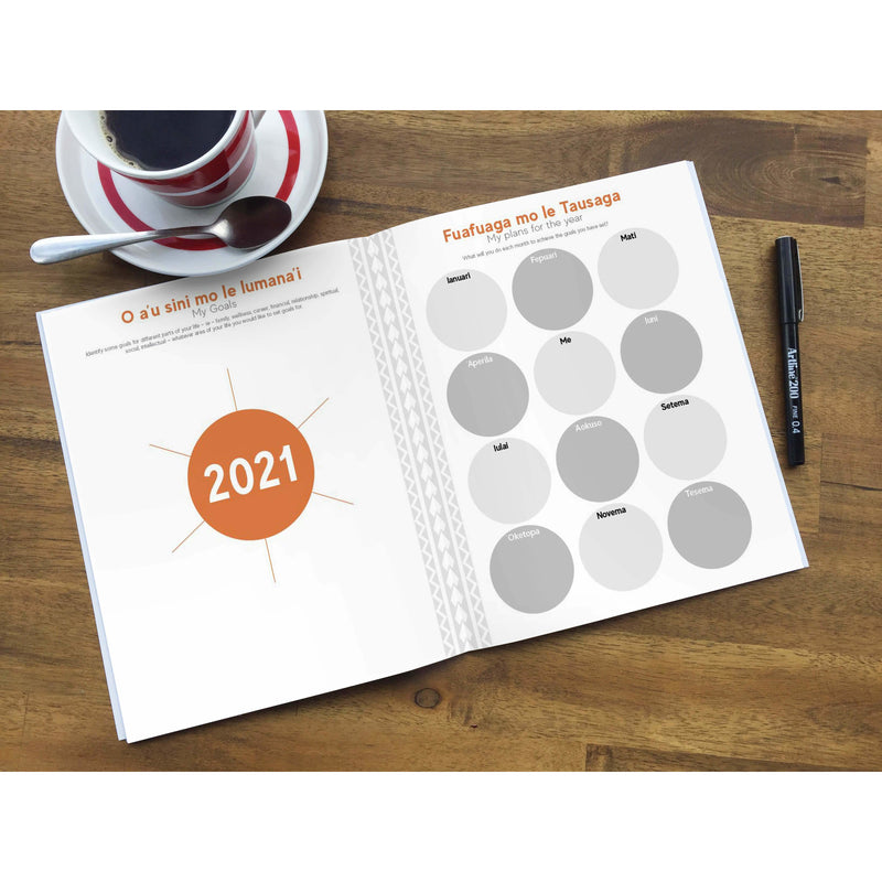 2021 Masina - Monthly Planner (Teuila Cover) - Tusi Stationery