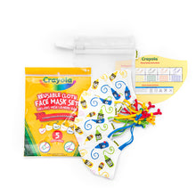 Load image into Gallery viewer, Crayola™ Kids Reusable Cloth Face Mask Set - Craymoji