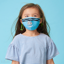 Load image into Gallery viewer, Crayola™ Kids Reusable Cloth Face Mask Set, Blue and Green Tip™ Faces