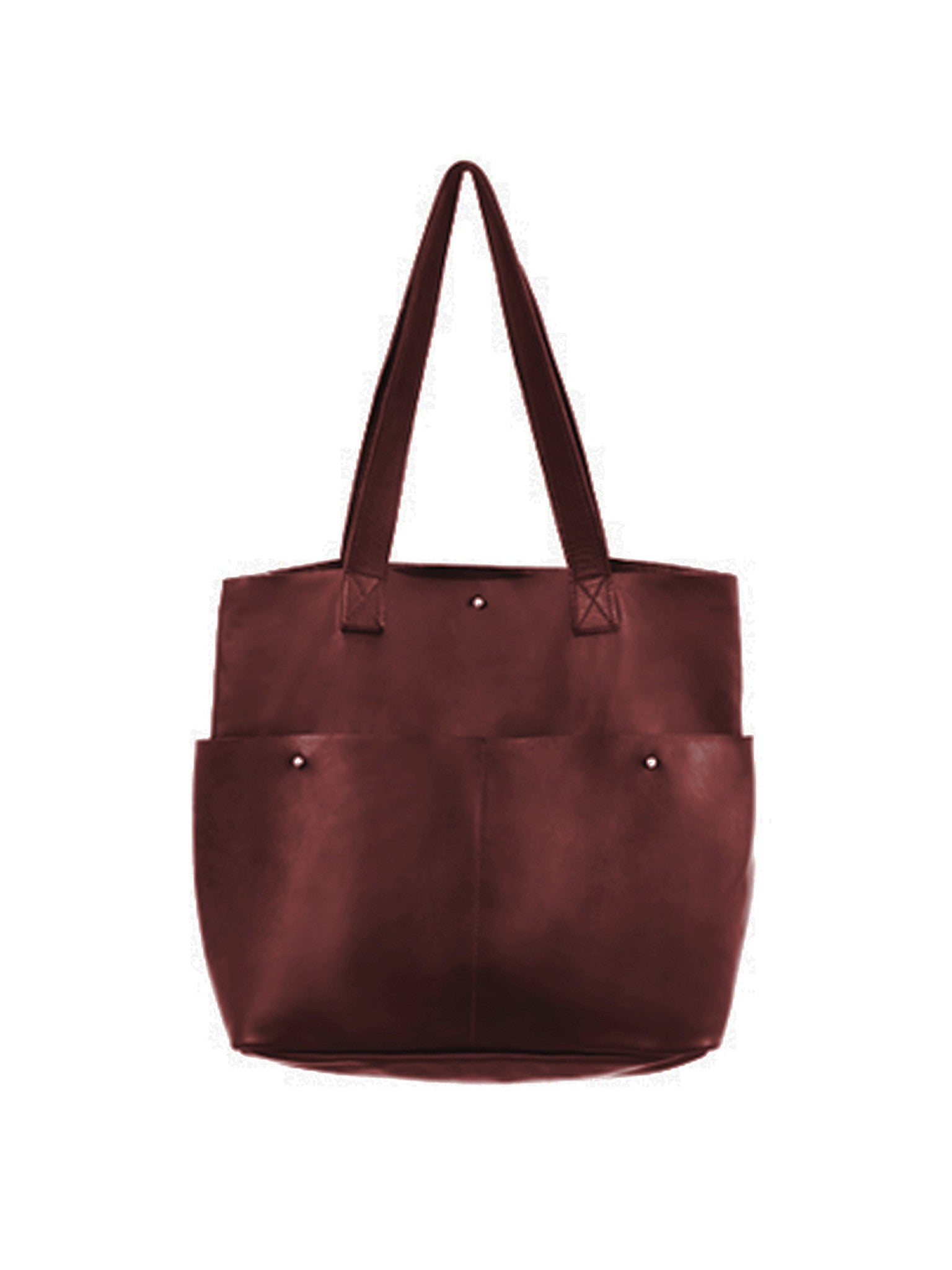Gardener Maxi Front Pockets Leather Tote