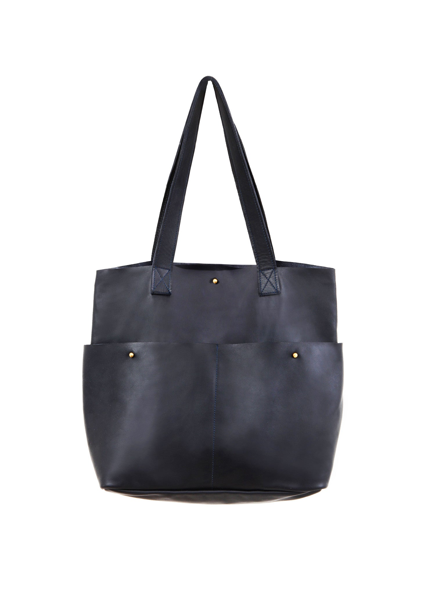 Gardener Maxi 2 Front Pockets Leather Tote