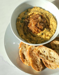 Pumpkin and Caramelized Onion Dip
