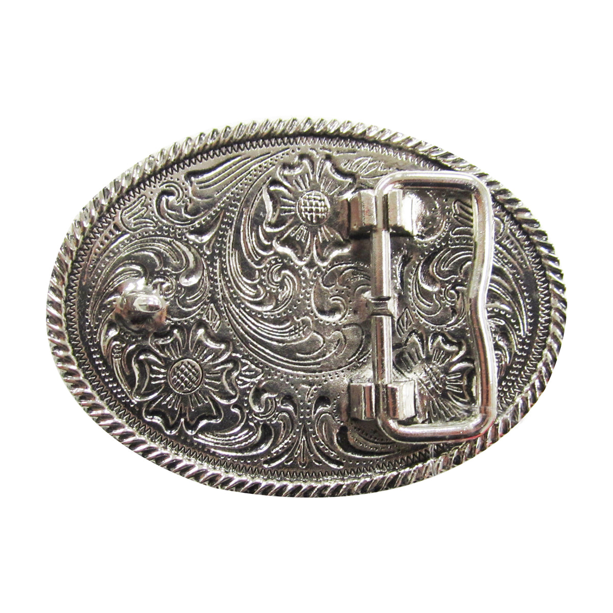 Kids' Oval Bull Rider Rope Edge Buckle