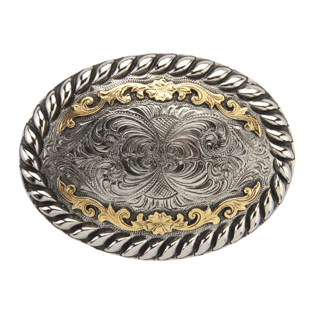 Oval with Embossed Heavy Rope Buckle
