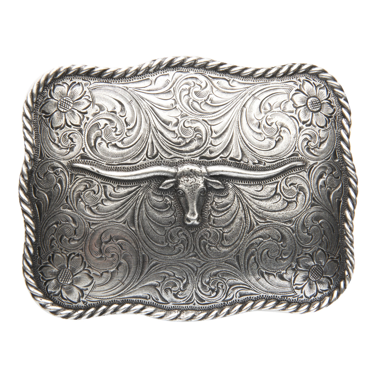 Scalloped Longhorn Buckle