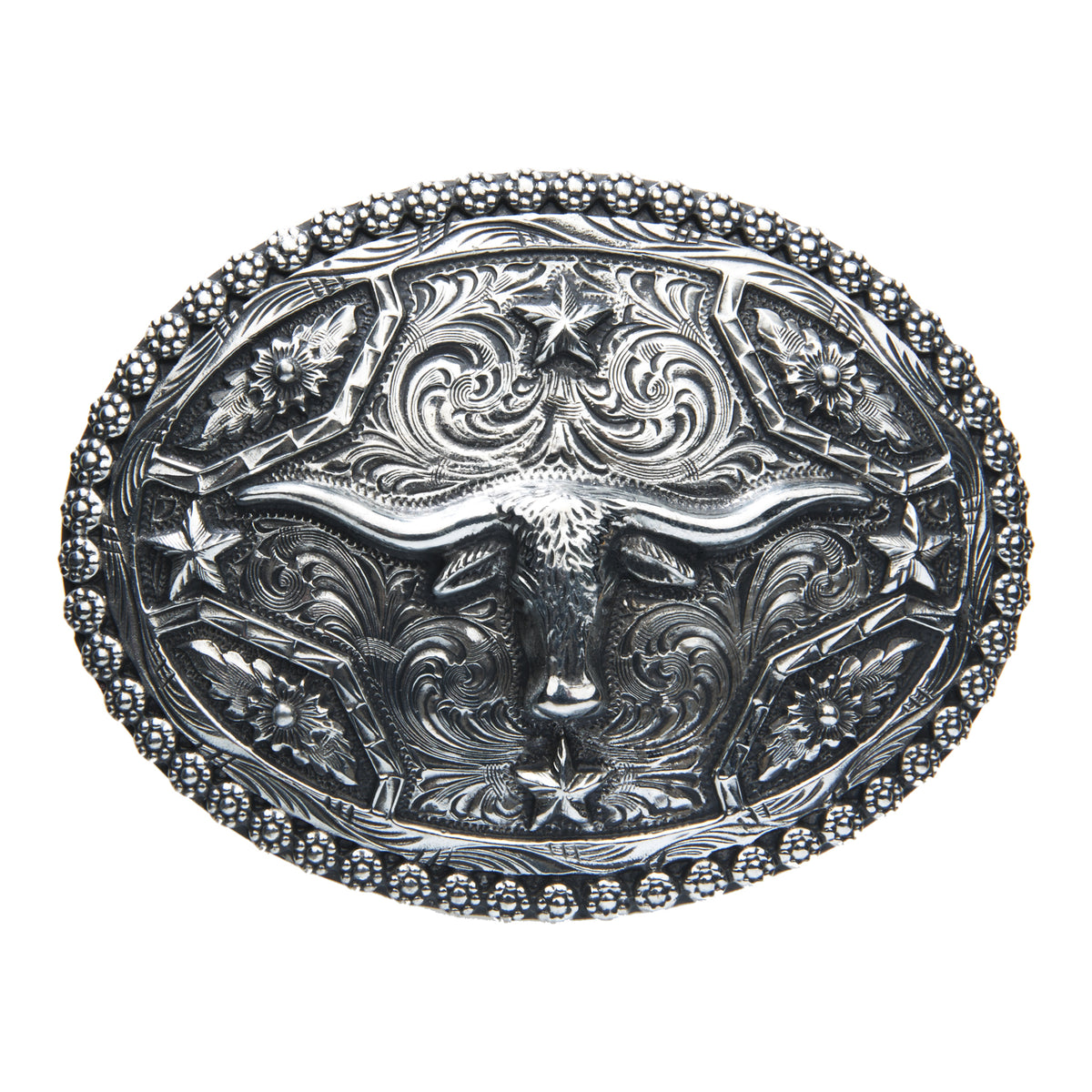 Longhorn with Stars Buckle