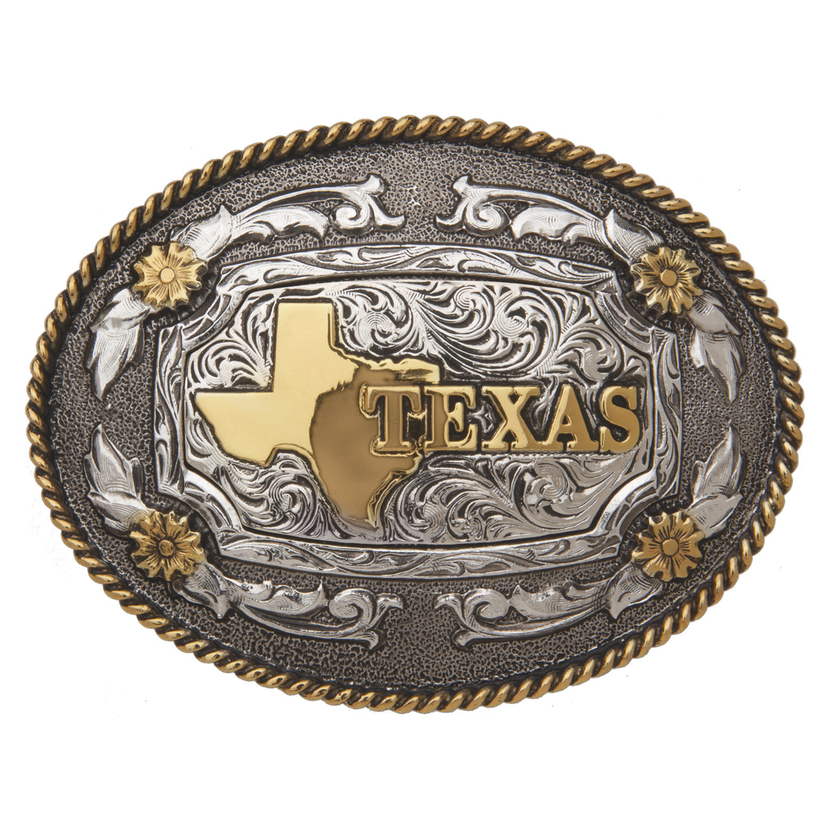 Texas State — Oval Rope Edge Buckle