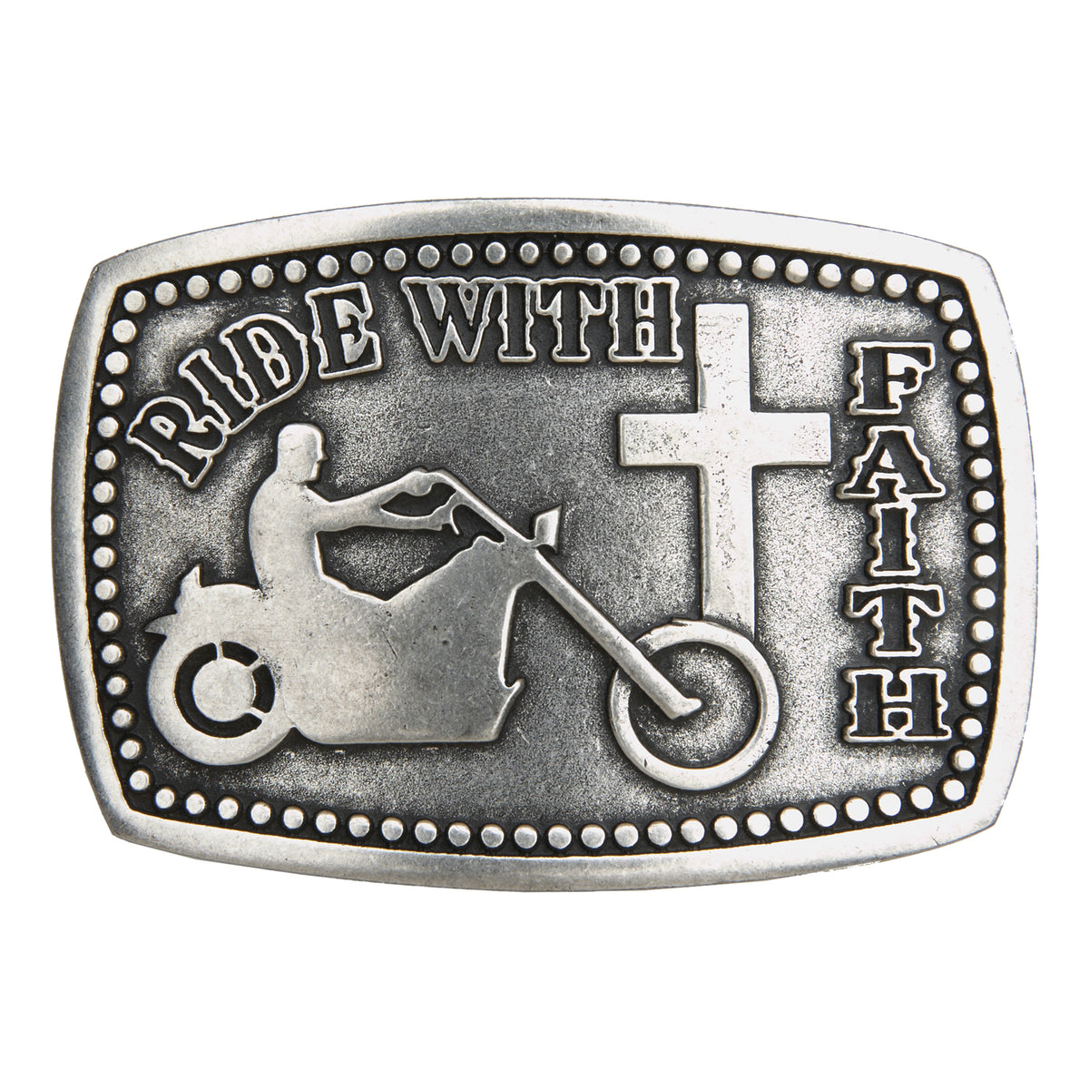 Ride with Faith Buckle