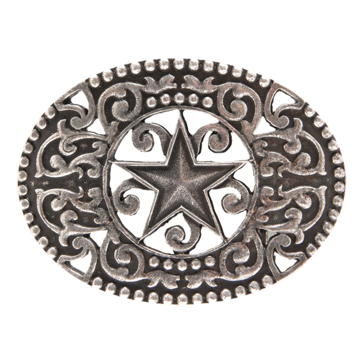 Star and Scroll Filigree Buckle