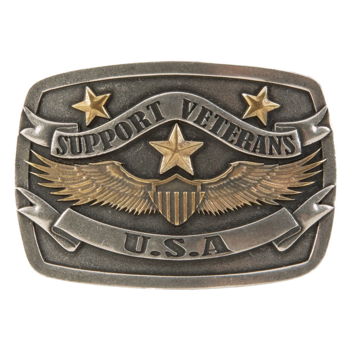 Support Veterans USA Buckle
