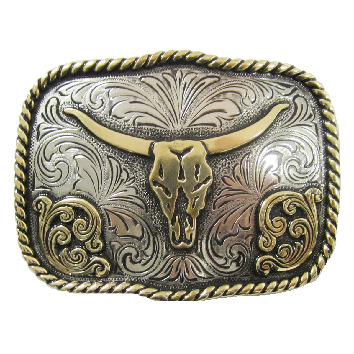 Longhorn Rope Edge Scallop Buckle