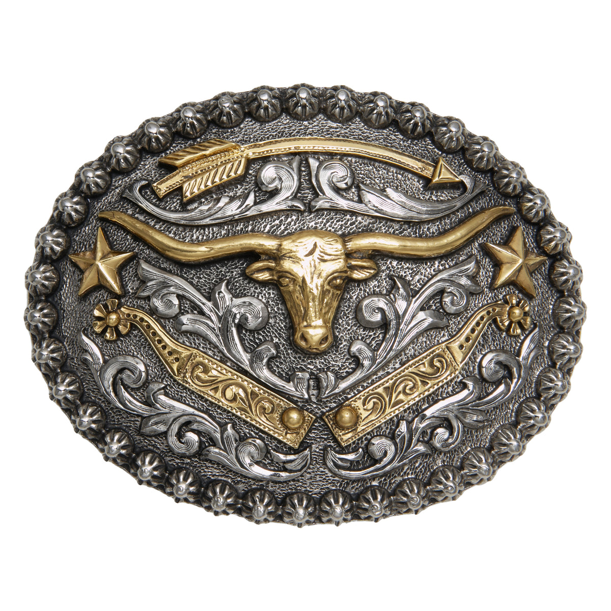 Longhorn with Arrow and Spurs Buckle