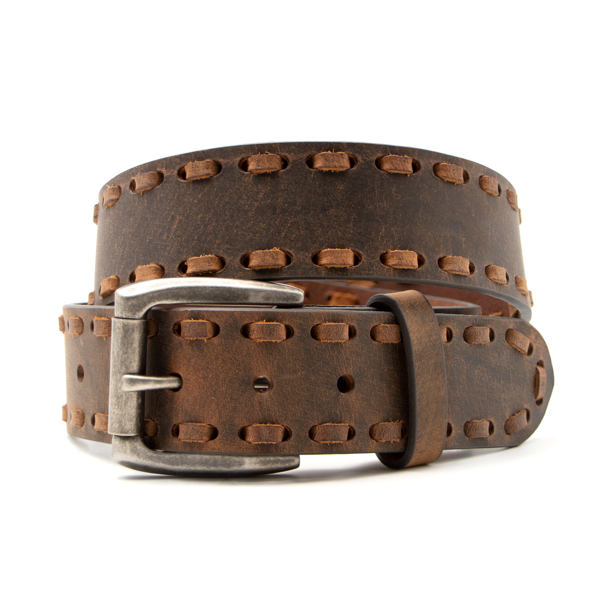 "1 5/8"" Wide Laced Edge Belt"