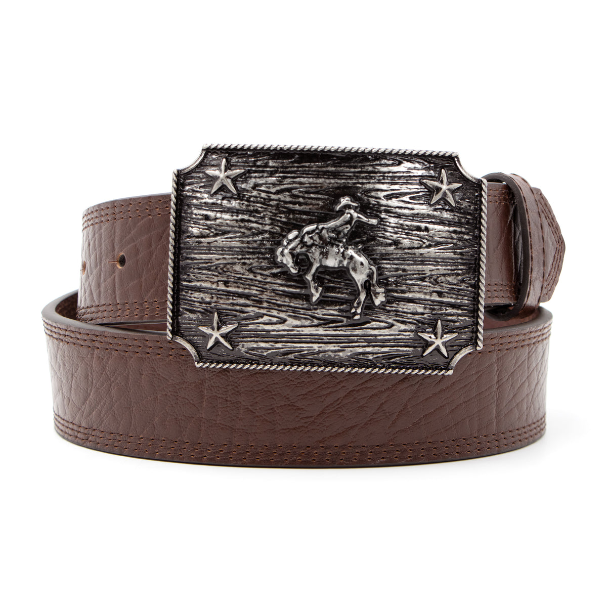 "1 1/2"" Iconic Bronc Rider Plaque Buckle Belt"