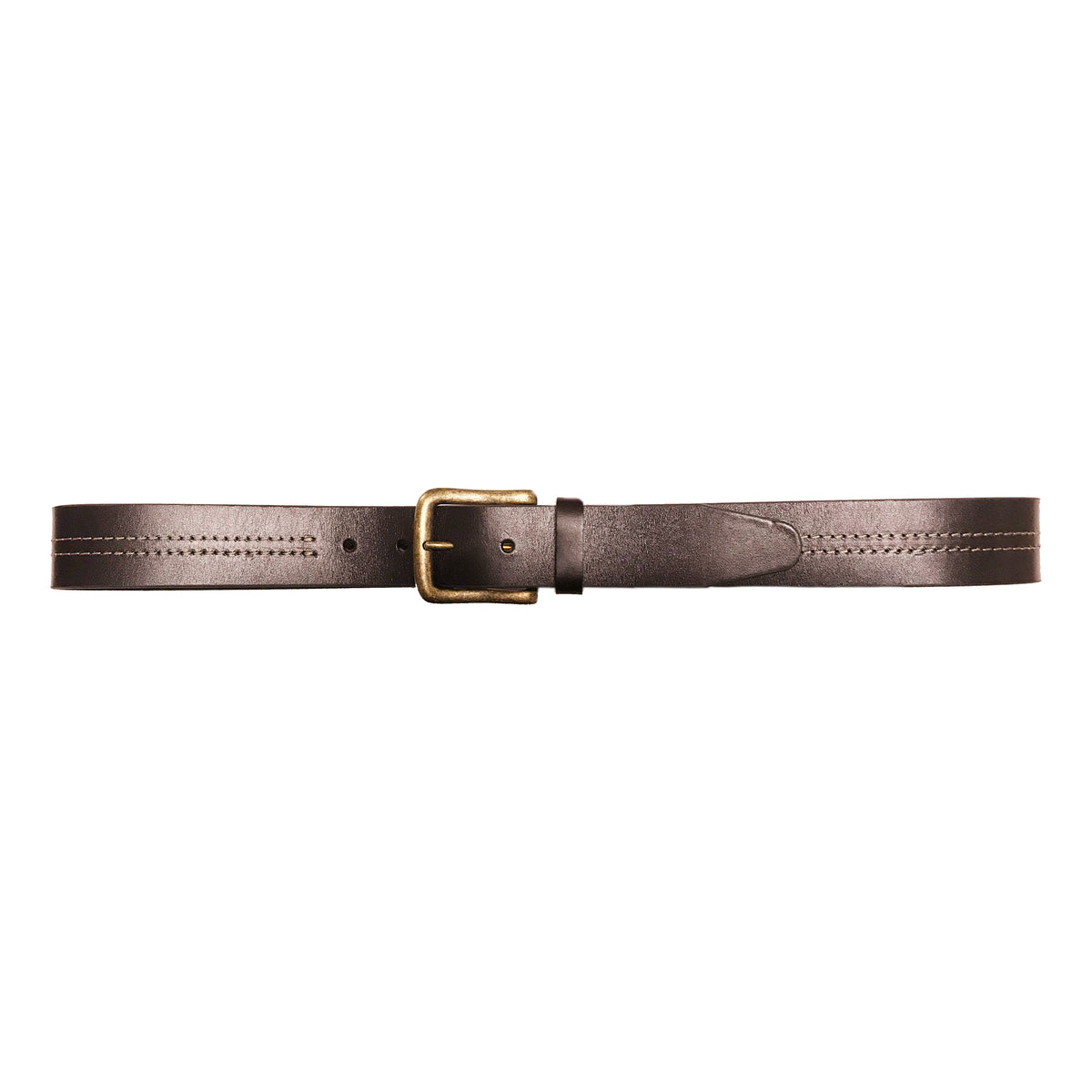 "1 1/2"" Double Center Contrast Stitch Belt"
