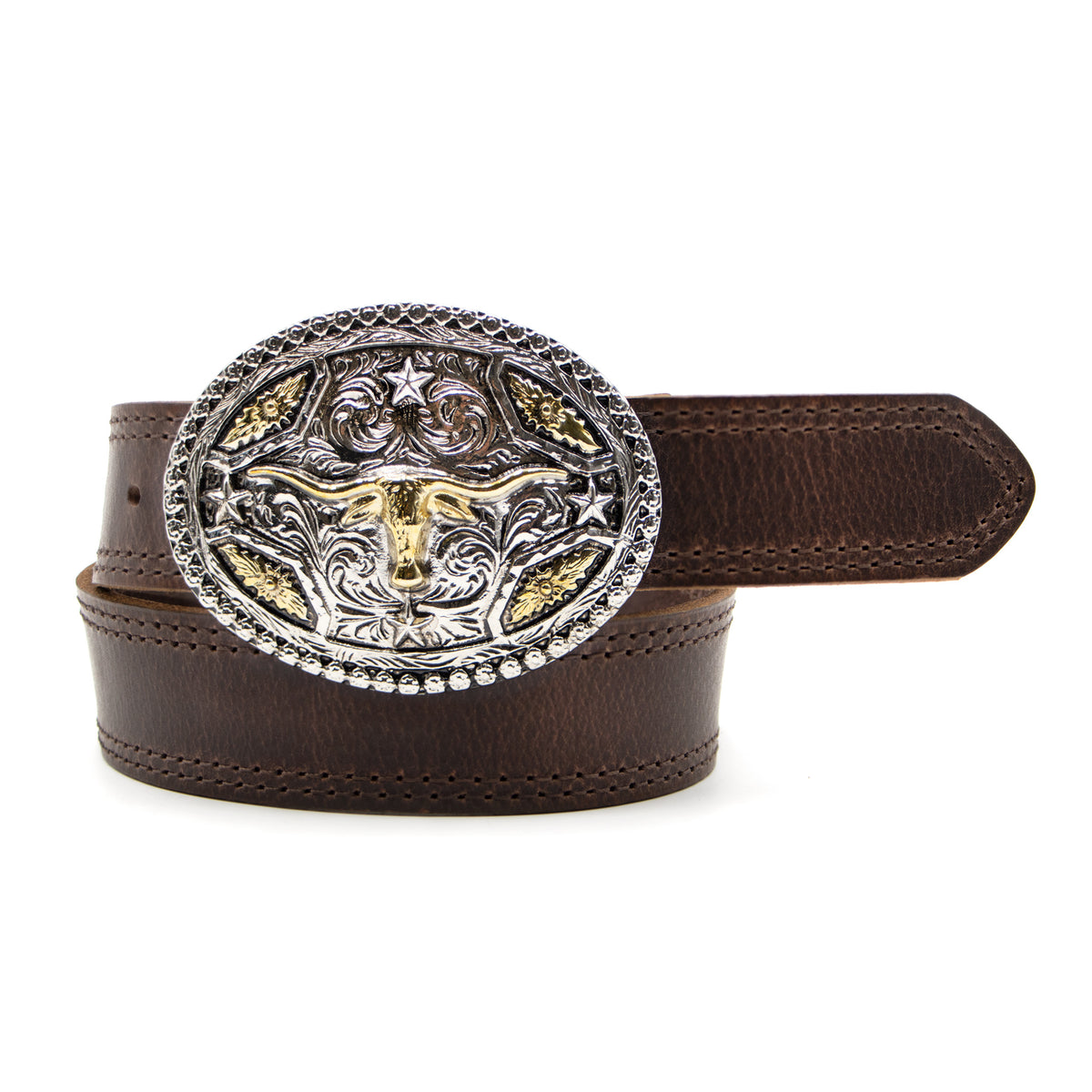"Kids' 1 1/4"" Longhorn Buckle Belt"