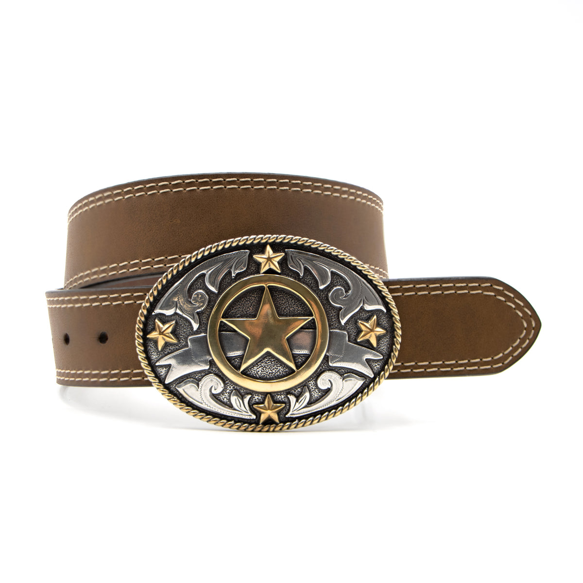 "Kids' 1 1/4"" Texas Ranger Buckle with Double Stitch Belt"