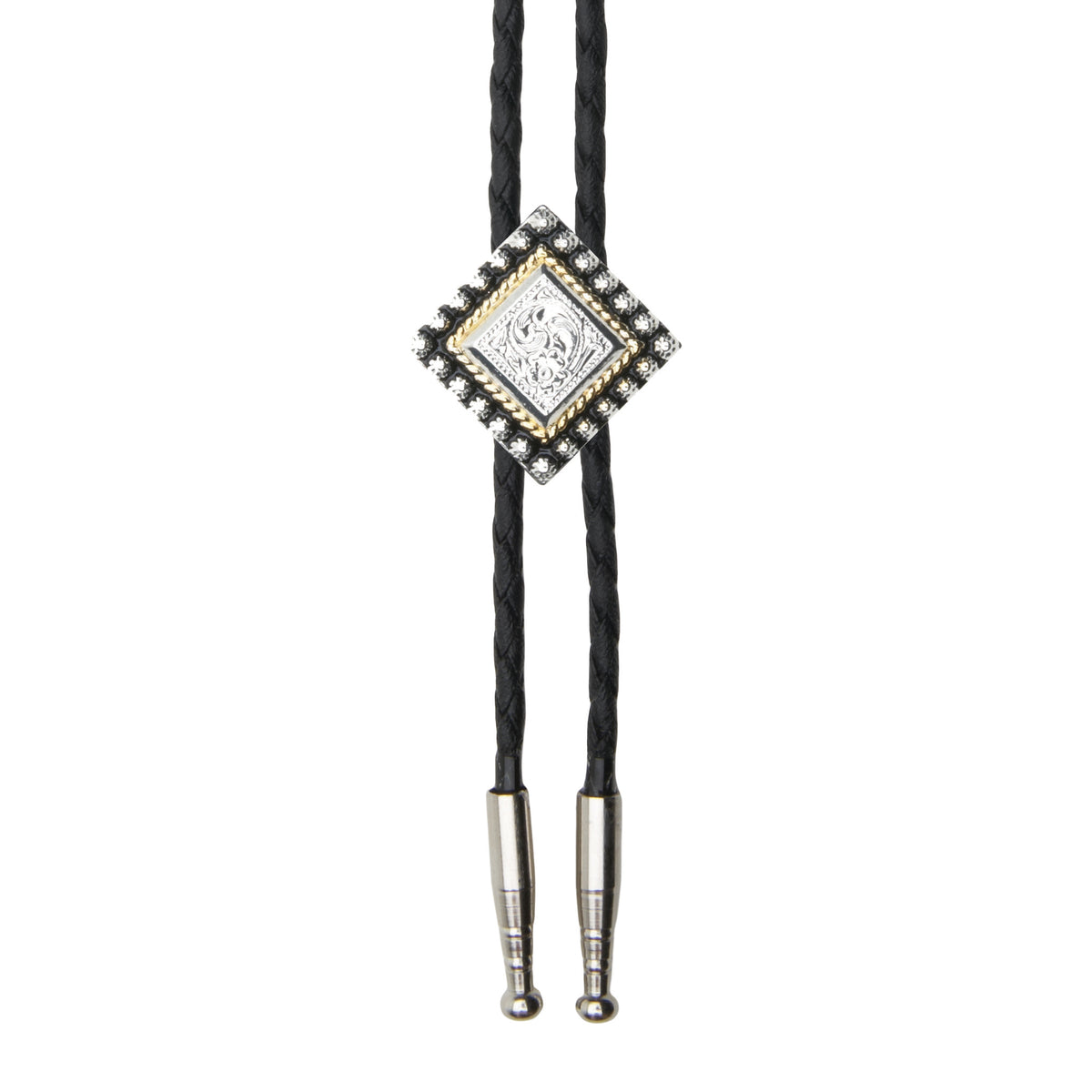 Small Diamond with Beads Bolo