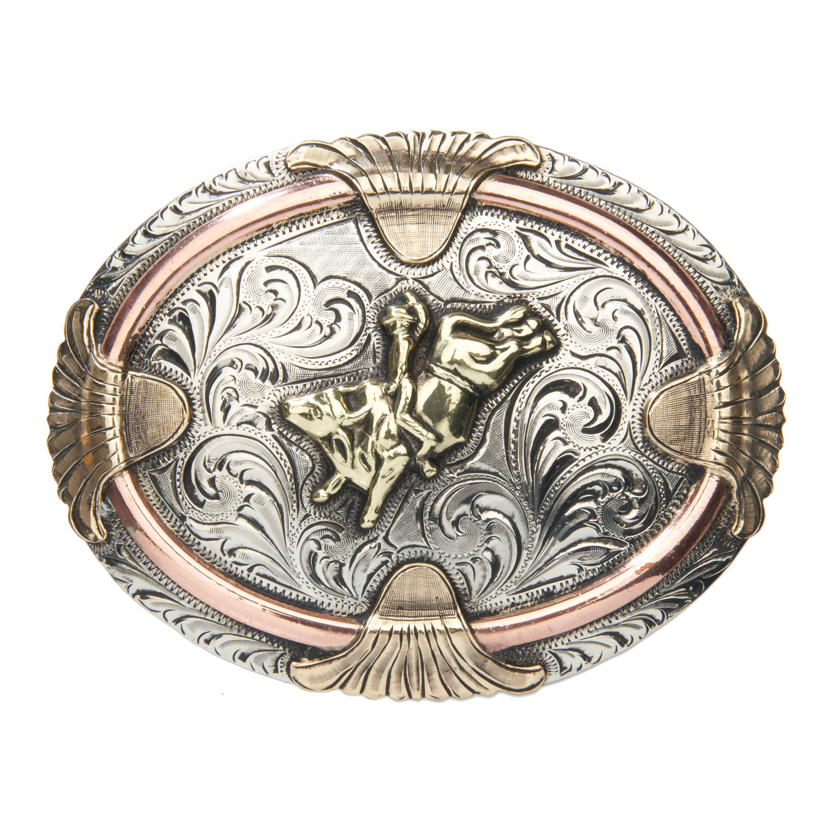 """Mesa"" Bull Rider with Scrolls Buckle"