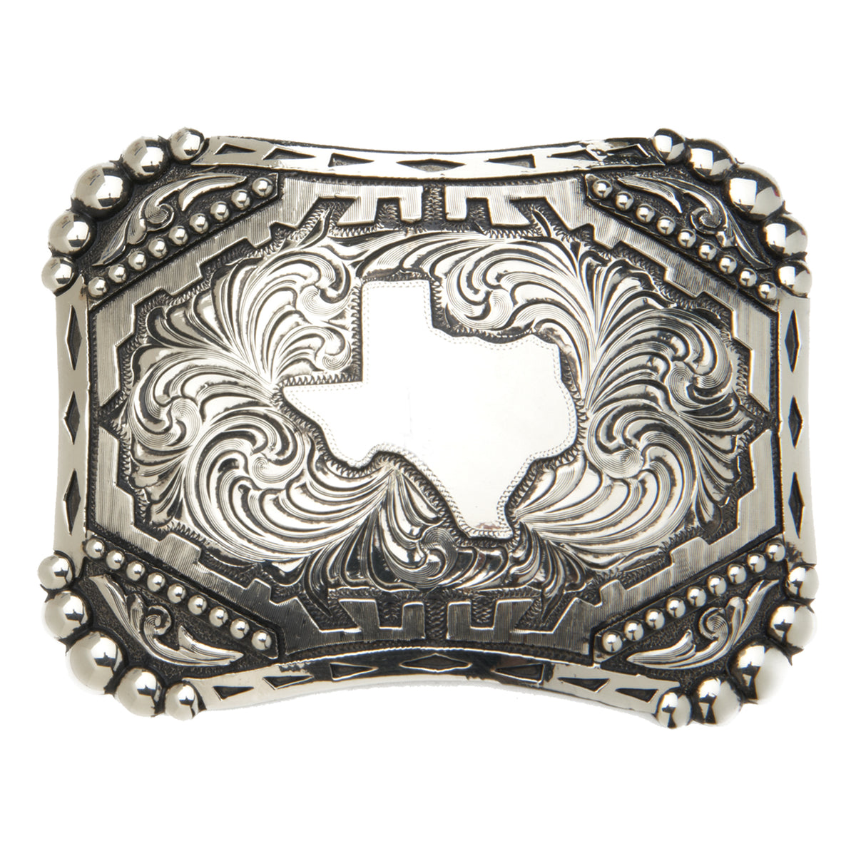 """Silverton"" State of Texas with Beading Buckle"
