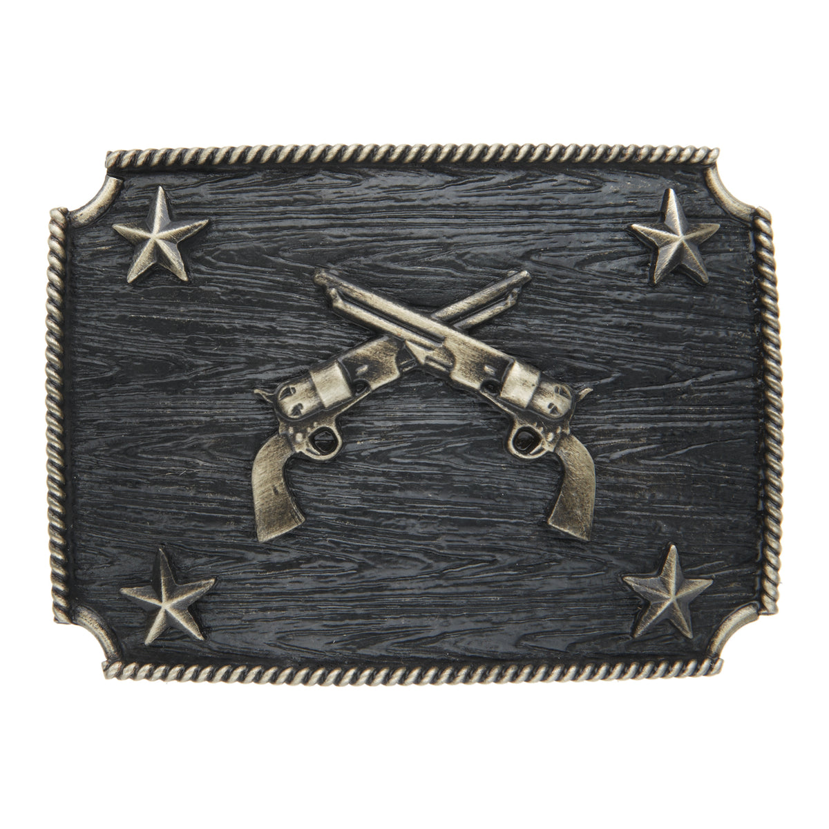 Crossed Pistols with Stars Iconic Classic Buckle