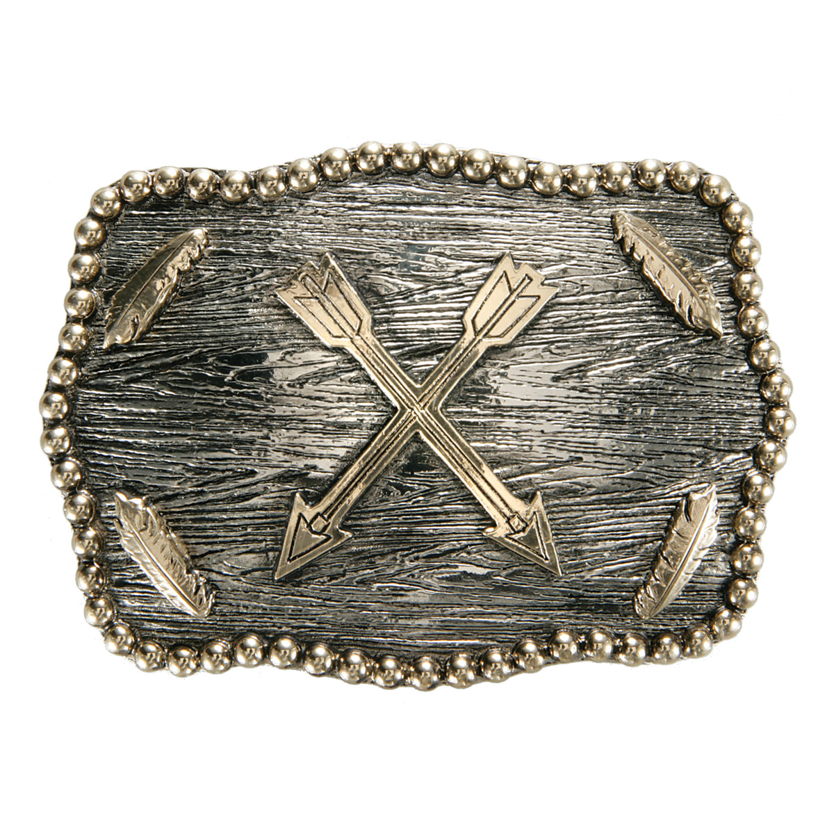 Crossed Arrows with Feathers Iconic Classic Buckle