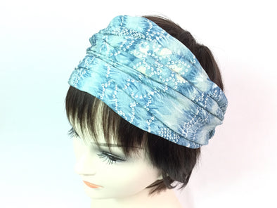 Turban headband Tint of Blue Sunlight