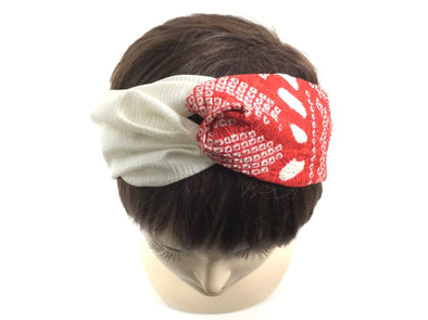 Cross headband Scrorching Red