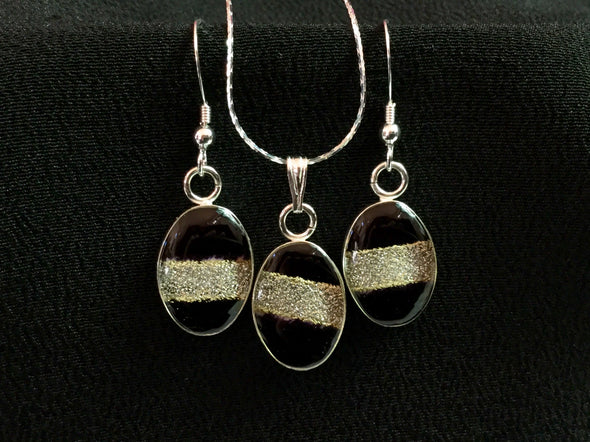 Kimono Earring and Necklace Set 043