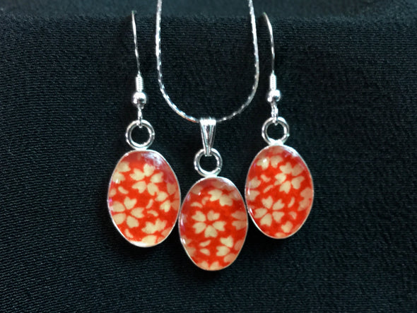 Kimono Earring and Necklace Set 050