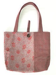 Tote bag Red Flower Dance |トートバッグ 赤 唐草