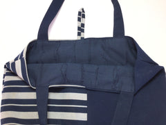 Tote bag Sail Away With Me |トートバッグ 紺 縞