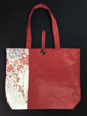Tote bag A Garden of Red |トートバッグ 赤と銀の花