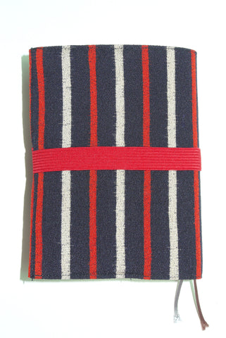 Bible cover mini Navy Red&White stripes Red band|バイブルカバーミニ 紺赤&白の縞