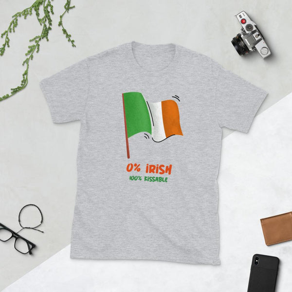 0% Irish, 100 Kissable Short-Sleeve Unisex T-Shirt-T-Shirts-Chloe Lambertin
