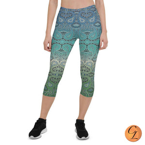 Aruba Capri Leggings-Leggings-Chloe Lambertin