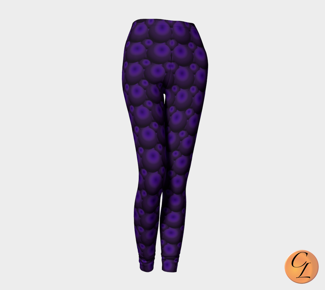 Black Cherry Soda Leggings-Leggings-Chloe Lambertin
