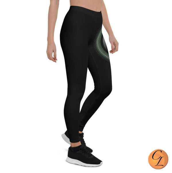 Black Mandala Leggings-Leggings-Chloe Lambertin