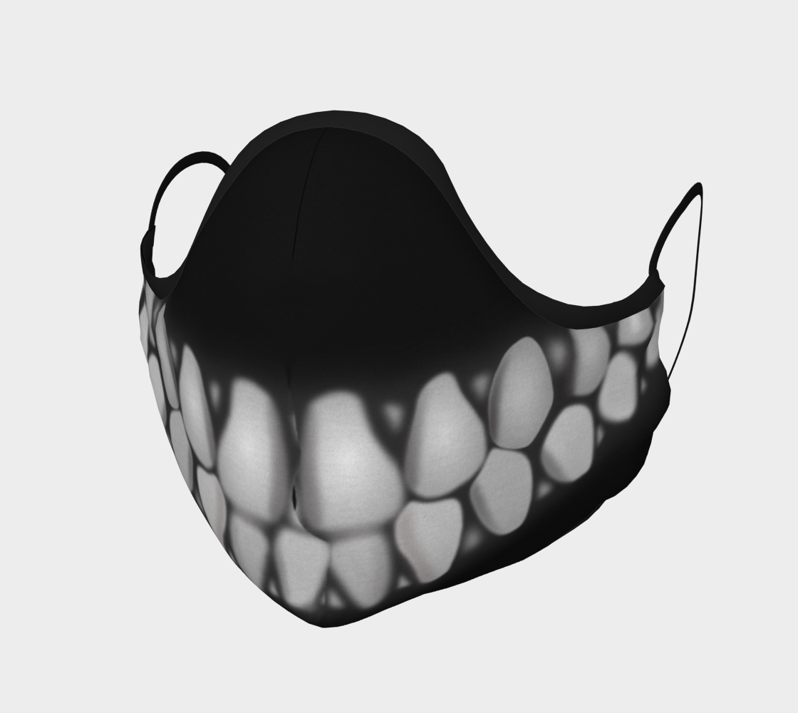 Black Teeth Mask-Face Covering-Chloe Lambertin