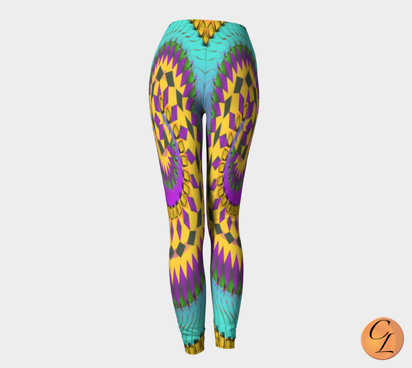 Blue Spyro Leggings-Leggings-Chloe Lambertin
