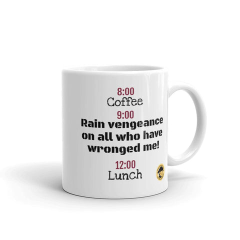 Coffee, Vengeance, Lunch Funny Mug.-Mug-Chloe Lambertin