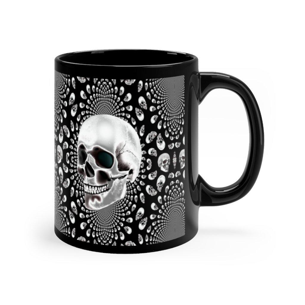 Field of Skulls Halloween Black mug 11oz-Mug-Chloe Lambertin