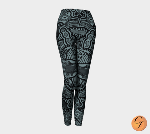 Finished Tribal Leggings-Leggings-Chloe Lambertin