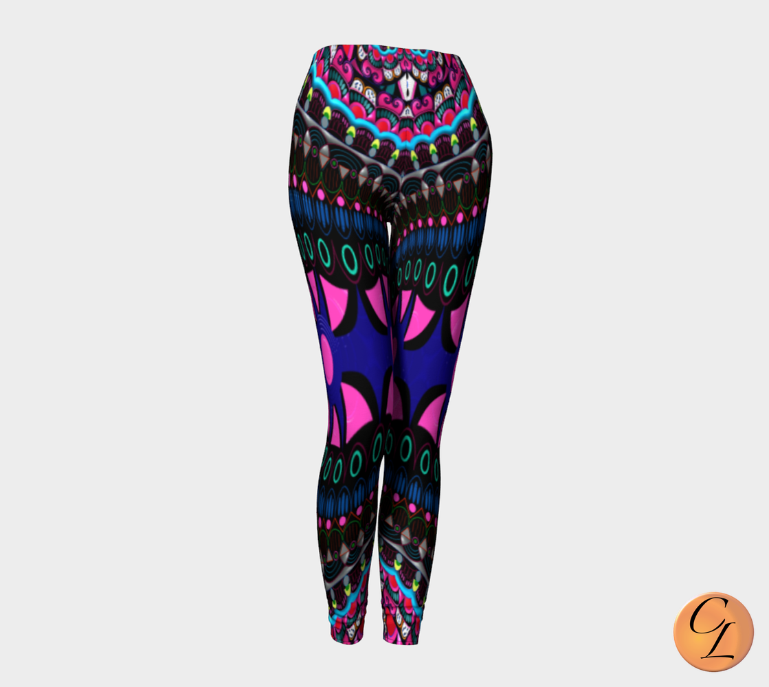 Fractal Leggings-Leggings-Chloe Lambertin