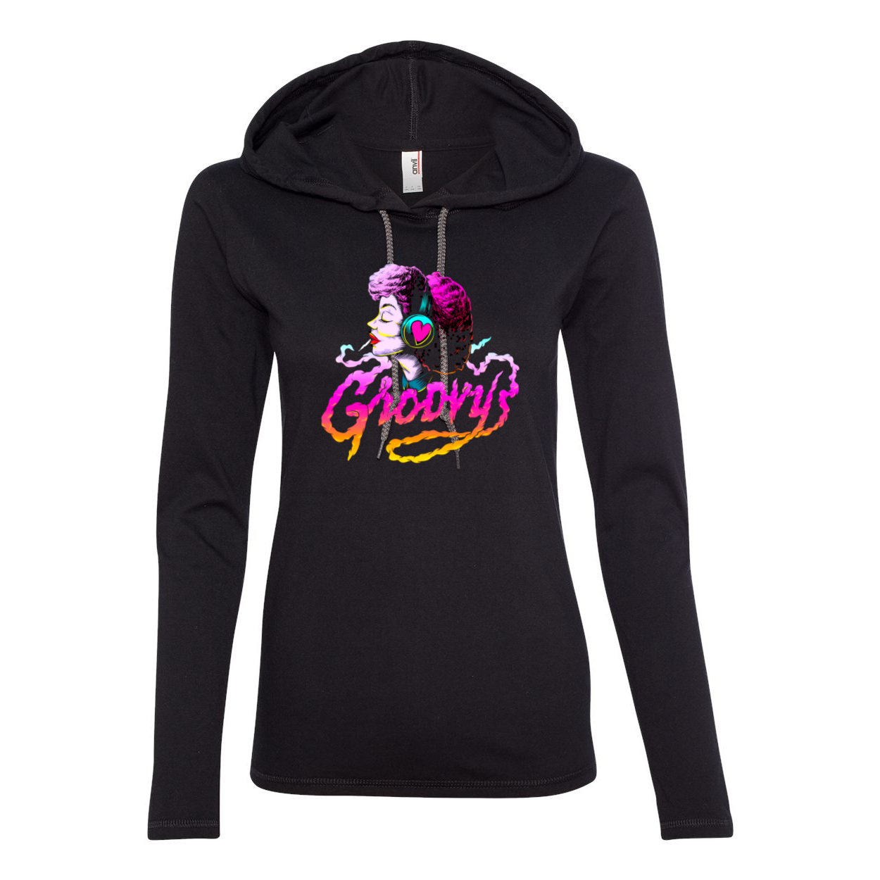 Groovy Long Sleeve Hooded T-Shirt-Sweatshirt-Chloe Lambertin
