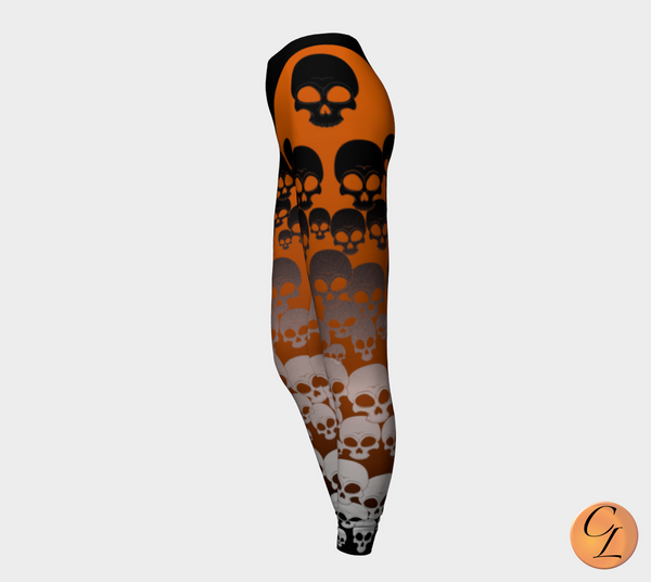 Hip Skull Leggings-Leggings-Chloe Lambertin