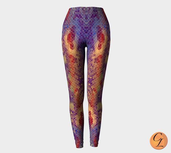 King Cobra Snakeskin Leggings-Leggings-Chloe Lambertin