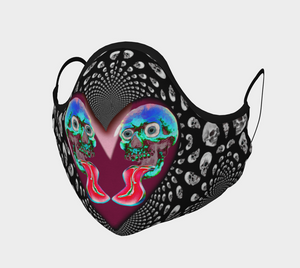 Love Skull Face Mask-Face Covering-Chloe Lambertin