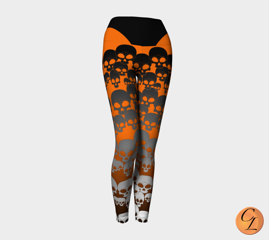 More Skulls Yoga Leggings-Yoga Leggings-Chloe Lambertin